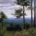"""Pines Of The Mogollon Rim, Painting"" - Pines overlook from the Mogollon Rim in Arizona."