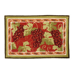 Small Grape Design Kitchen Rugs - talentneeds.com -