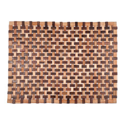 Entryways - Douglas Exotic Wood Mat - Natural 18x30 - Crafted of exotic wood, this handsome mat will add an elegant touch to any home. It is from Entryways Exotic Woods collection and meets the industry's highest standards. This design combines natural beauty and durability with surprising affordability.