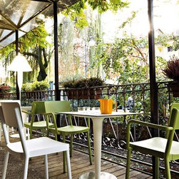 "Bonheur Outdoor Floor Lamp by Serralunga - Bonheur Floor Lamp by Serralunga. ""Bonheur Floor Lamp"" is a floor-lamp for outdoor and indoor use. It has a diffuser made with two polyethylene parts, created by rotomoulding and with a structure in grey painted metal. The dark white colour of the polymer spreads the light softly, creating a contrast with the deep grey of the structure."