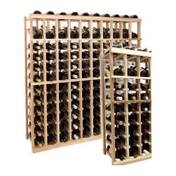 Wine Cellar Innovations - 4 ft. 10-Column Individual Wine Rack w Display (Rustic Pine - Light Stain) - Choose Wood Type and Stain: Rustic Pine - Light StainBottle capacity: 120. Ten column wine rack. Versatile wine racking. Custom and organized look. Built in display row. Beveled and rounded edges. Ensures wine labels will not tear when the bottles are removed. Can accommodate just about any ceiling height. Optional base platform: 45.69 in. W x 13.38 in. D x 3.81 in. H (5 lbs.). Wine rack: 45.69 in. W x 13.5 in. D x 47.19 in. H (13 lbs.). Vintner collection. Made in USA. Warranty. Assembly Instructions. Rack should be attached to a wall to prevent wobble
