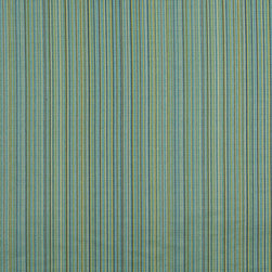 Turquoise Green And Beige Thin Striped Upholstery Jacquard Fabric By The Yard - This multipurpose fabric is great for residential upholstery, slipcovers and pillows. This material is woven for enhanced elegance, and will exceed 35,000 double rubs (15,000 is considered heavy duty)