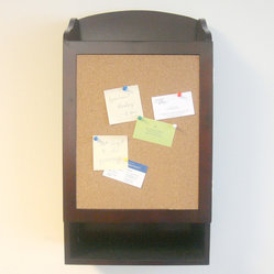 Proman Products Door Entry Organizer w/ Soft cork Message Board & Key Holder Com