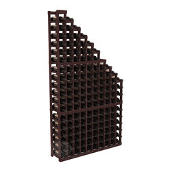 Wine Cellar Waterfall Display Kit in Redwood with Walnut Stain - A beautiful cascading waterfall of wine bottle displays. Create a spectacle of 9 of your favorite vintages. Designed within our modular specifications and to Wine Racks America's superior product standards, you'll be satisfied. We guarantee it.