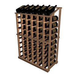 Wine Cellar Innovations - Half Height Display Wine Rack (Premium Redwood - Light Stain) - Choose Wood Type and Stain: Premium Redwood - Light Stain. Bottle capacity: 66. Six column wine rack. Beveled ends and rounded edges ensures wine labels will not tear when the bottles are removed. Full wine bottle depth coverage at 13.5 deep. 27.69 in. W x 13.5 in. D x 42 in. H (18 lbs.). Rack should be attached to a wall to prevent wobble. Designer collection. Made in USA. Warranty. Assembly Instructions