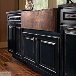 KraftMaid Cabinetry Vintage Onyx Apron Sink Base - This specialty cabinet makes it easy to personalize your kitchen with a unique apron sink.