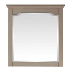 Pegasus - Pegasus Cannes 32 in. x 30 in. Mirror in Distressed Grey (10702-M30) - Cannes 32 in. x 30 in. W Mirror in Distressed Grey