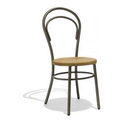 Industry West - Ada Chair with a Wood Seat - The Ada Chair brings a touch of French cafe life to any home. Its sleek, refined shape is an elegant addition to any space. (We especially like the idea of matching its delicate form with a more substantial table for aesthetic contrast.) All of our chairs are hand-finished and hand-welded, making each piece completely unique.