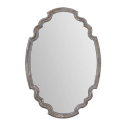 Uttermost - Ludovica Aged Wood Mirror - Aged Wood Finish Accented With A Gray Wash.