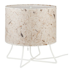 Lights Up! - Virgil Low Lamp, Mango Leaf - This versatile table lamp, designed by Rachel Simon, has the kind of easy-going style you love. A simple drum shade — prettily patterned or simply solid — atop a legged base makes a cool, casual statement in your favorite setting.