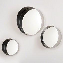 Global Views Arabesque Shadow Box Mirror Black - Conduit Mirror-Black-Lg