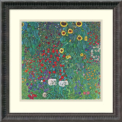 Amanti Art - Farm Garden with Sunflowers, c. 1906 Framed Print by Gustav Klimt - Bloomin' brilliant. The flowers on this Gustav Klimt print will remain fresh, bright and colorful season after season, thanks to fade-resistant ink. Moreover, they'll arrive ready to display, being professionally framed and matted. All you have to do is decide where they should go — no green thumb required.