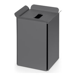 WS Bath Collections - Paper Basket, Dark Grey - Paper basket/waste basket. Modern/contemporary design. Designer high end quality. Warranty: One year. Made from powder coated aluminum. Made in Italy. No assembly required. 10.2 in. L x 8.7 in. W x 12.8 in. H (5 lbs.). Spec SheetUnique and fine bath accessories and complements, that provide inspirational solutions for every decor.