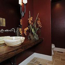 Contemporary Powder Room by Julie Dreiling Interiors, LLC