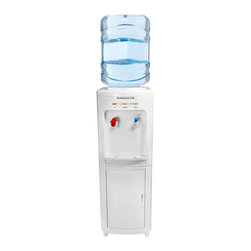 Ragalta - Thermo Electric Cold Hot Dispenser - Thermo Electric Cold & Hot Water Dispenser. High efficency anti-electric shock protection.  Fits 3-5 gallon bottles of water.  LED status indicator.  Hot water child safety lock. Storage cabinet.