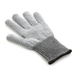 Microplane® Cut-Resistant Glove - The masters at Microplane may be known for their razor-sharp tools, but they also know a thing or two about kitchen safety. This wire free-knit glove is strategically designed to minimize injuries when working with graters and mandolins (not sharp knife points). One size fits most, on either hand.