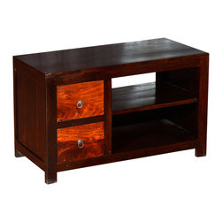 """Sierra Living Concepts - Santa Fe Solid Hardwood 36"""" TV Stand Media Console - Be inspired with the blazing colors of a summer sunset in the dessert with our Santa Fe Solid Hardwood 36"""" TV Stand Media Console."""