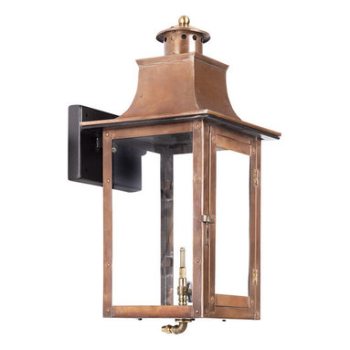 ELK - Elk Lighting Artistic 7913-WP Outdoor Gas Wall Lantern Maryville - Outdoor Gas Wall Lantern Maryville Collection In Solid Brass With An Aged Copper Finish