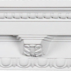 uDecor - CM-1007 Crown Molding - Crown molding is manufactured with a dense architectural polyurethane compound (not Styrofoam) that allows it to be semi-flexible and 100% waterproof. This molding is delivered pre-primed for paint. It is installed with architectural adhesive and/or finish nails. It can also be finished with caulk, spackle and your choice of paint, just like wood or MDF. A major advantage of polyurethane is that it will not expand, constrict or warp over time with changes in temperature or humidity. It's safe to install in rooms with the presence of moisture like bathrooms and kitchens. This product will not encourage the growth of mold or mildew, and it will never rot.
