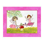 Oh How Cute Kids by Serena Bowman - Playtime Fairies, Ready To Hang Canvas Kid's Wall Decor, 24 X 30 - Part of my Fairy Tale Princess series. So far as I can remember we have Sleeping beauty, Cinderella, Alice in wonderland, Rapunzel, Princess and the Pea and probably a couple more that I am forgetting!  Each are sold separately but coordinates with everything in the series for an easy fun room decor!