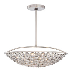 Metropolitan Lighting - Metropolitan Magique Polished Nickel Pendant - Metropolitan N6757-613 Magique Polished Nickel Pendant