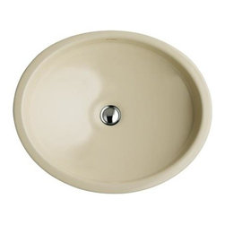 KOHLER - KOHLER K-2874-96 Canvas Cast Iron Lavatory - KOHLER K-2874-96 Canvas Cast Iron Lavatory in Biscuit