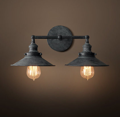 Industrial Wall Sconces by Restoration Hardware