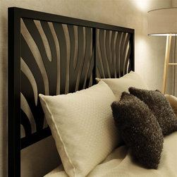 Amisco - Metal Headboard in Textured Black (Queen) - Choose Size: QueenContemporary style