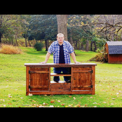 Rustic Entertainment Console - All of my furniture is hand built from solid wood.
