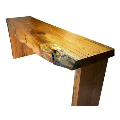 Robin Wade Furniture - Spalted Narrow Oak Desk - Dimensions: 69 1/2'' L x 29 1/2'' H x 18-24'' W 3'' Thick