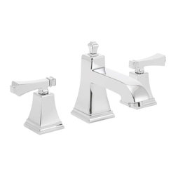 Speakman - Speakman Rainier Collection 8 Inch Widespread Faucet in Polished Chrome - Speakman's Rainier 8 inch Widespread two- handle bathroom faucet adds a unique square design to complete a bold look in the bathroom. The Rainier chrome faucet prevails a striking masculine update to your traditional styled bathroom faucets. The newest design collection to the Speakman family; the Rainier bathroom faucet collection pairs with the Rainier Showerhead and other bathroom accessories to present iconic exclusivity in any bathroom.