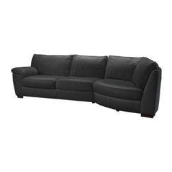IKEA of Sweden - VRETA Corner sofa with arm left - Corner sofa with arm left, Mjuk black