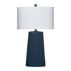 "Signature Design by Ashley - 28"" Set of 2 Resda Table Lamps Teal L123644 - A set of two contemporary teal blue table lamps from Famous Brand Lighting perfect for adding a pop of color and style into any room"