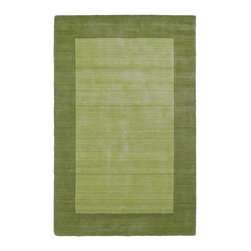 """Kaleen - Kaleen Regency Collection 7000-33 2'6""""X8'9"""" Celery - Regency offers an array of beautiful and elegantly subtle tones for today's casual lifestyles. Choose from rich timeless hues shaded with evidence of light brush strokes. These 100% Virgin Wool, hand loomed rugs are sure to add comfort and warmth to any setting. Each rug is hand crafted in India."""