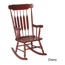 None - Gift Mark Home Adult Rocking Chair - No home is complete without the use of at least one classically designed and constructed rocking chair. The lovely cherry finish or Espresso finish on this particular chair will add a rich style to any room in your home,not to mention the extra comfort.