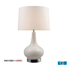 Dimond Lighting - Dimond Lighting Continuum Table Lamp w/ White Base & Chrome Hardware - LED Offer - Table Lamp w/ White Base & Chrome Hardware - LED Offering Up To 800 Lumens belongs to Continuum Collection by Dimond Lighting Lamp (1)