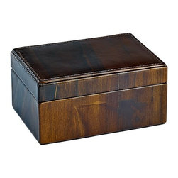 Small Box, Sandalwood Leather - Sandalwood Leather Small Box - Perfect for cuff links, a watch, or precious keepsakes.