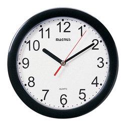 """Dainolite - Dainolite 24003-BK 8"""" Dia Round Black Wall Clock Plastic Face - Dainolite 24003-BK 8"""" Dia Round Black Wall Clock  Plastic Face"""