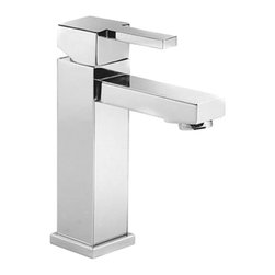"""Belvedere - Single Handle Bathroom Faucet in Chrome with Drain - Overall Height: 6-3/4"""" (measured from mounting deck to highest point on faucet)"""