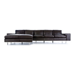 Moroni - Moroni - Barnet 2 Piece Double Chaise Sectional Set - 51716-2set - Upholstered in your choice of mircofiber or 100% top grain Italian leather