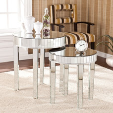 Upton Home Tifton Round Mirrored Nesting Accent Table 2pc Set - Overstock™ Shopp
