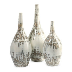 "IMAX CORPORATION - Hampton Mexican Pottery Vases - Set of 3 - The Hampton Mexican pottery vases have traditional clay bodies and look great in a variety of room settings. Set of 3 in various sizes measuring around 23.5""L X 4.75""W X 23""H each. Shop home furnishings, decor, and accessories from Posh Urban Furnishings. Beautiful, stylish furniture and decor that will brighten your home instantly. Shop modern, traditional, vintage, and world designs."