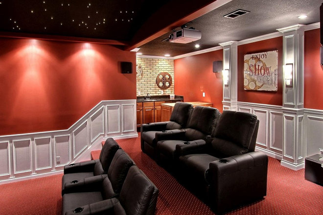 Craftsman Home Theater by Pathway Homes