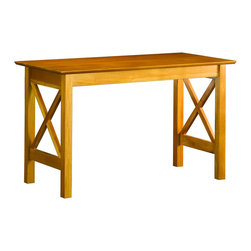 Atlantic Furniture - Atlantic Furniture Lexington Work Table in Caramel Latte - Atlantic Furniture - Work Table - AH11237 - The perfect size for any office the Lexington Work Table gets the job done by itself or with help from a Printer Stand or Writing Table.
