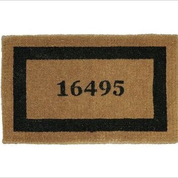 """Personalized Doormat, 22 x 36"""", Espresso - Our hand-screened doormats make a welcoming statement for guests. Single Wide: 36"""" wide x 22"""" deep x 1.5"""" thick Extra Large: 30"""" x 48"""" x 1.5"""" thick Double Wide: 57"""" wide x 24"""" deep x 1.5"""" thick Border and text can either be black or espresso. Thickly woven of naturally durable coir, a fiber derived from the outer husk of coconut shells. May be personalized at no additional charge. Monogram will be centered on the doormat. Imported."""