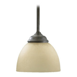 Quorum Lighting Ashton Toasted Sienna Mini-Pendant Light with Bowl / Dome Shade -
