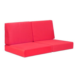 Zuo Modern - Zuo Modern Cosmopolitan Outdoor Sofa Cushions X-258107, Red - These cushions are UV and water resistant. Set of 4.