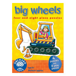 """The Original Toy Company - The Original Toy Company Kids Children Play Big Wheels - Make the 4 mighty machines and use the 9 play pices for extra fun. Ages 3 years plus. Puzzle size- 7.5""""x 5.5"""" 4 and 8 piece puzzles. Made in England."""