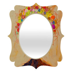 "DENY Designs - Elizabeth St Hilaire Nelson Summer Tree Quatrefoil Mirror - Mirror, mirror on the wall. Whos the fairest one of all? Well thats easy our quatrefoil mirror, of course! With a sleek mix of engineered wood trim thats unique to each piece and a glossy aluminum frame, the quatrefoil mirror makes you feel oh so pretty every time you catch a glimpse.Features: -Mirror. -Elizabeth St Hilaire Nelson Summer Tree collection. -Face: High gloss aluminum with UV resistant coating. -Frame material: Engineered wood. -Quality glass mirror. -Mounting: Wire mount with picture hanger included. -Custom printed for every order. -Made in the USA.Dimensions: -14.2"" H x 16.6"" W x 1.5"" D: 10 lbs. -23.6"" H x 28"" W x 1.5"" D: 15 lbs. -30.6"" H x 36"" W x 1.5"" D: 20 lbs."