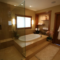 Asian Bathroom by H&H Design